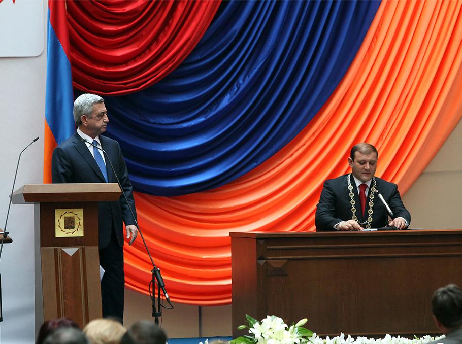 Serzh Sargsyan and Taron Margaryan