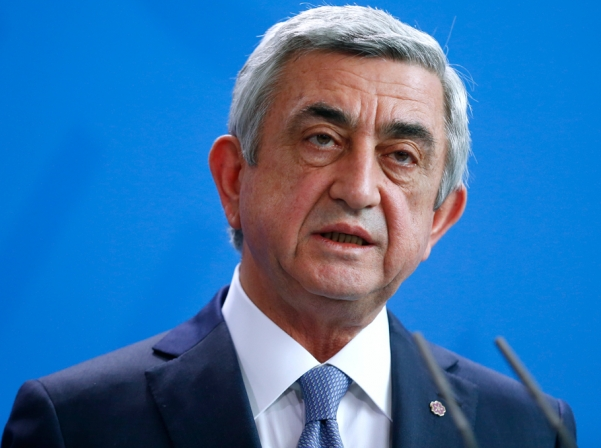 Armenian president urges gunmen to release hostages