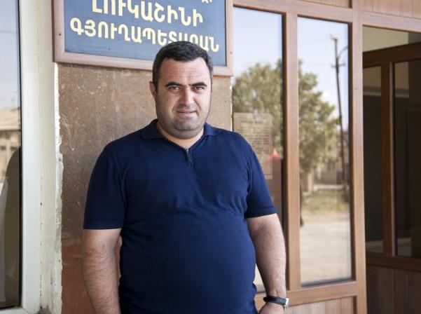 Լուկաշինի գյուղապետ Կարեն Մկրտչյանը